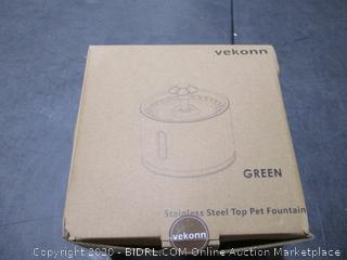 Vekonn Stainless Steel Top Pet Fountain