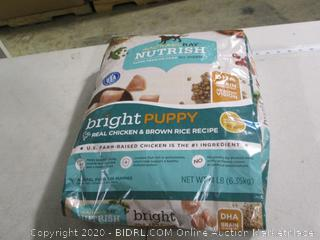 Rachael Ray- Nutrish- Bright Puppy Super Premium Puppy Food- 14 LB Bag (Sealed)