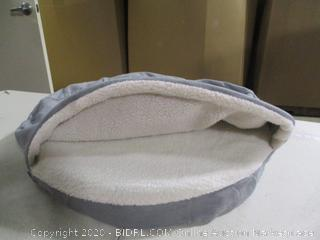 FurHaven- Sherpa & Suede Snuggery Pet Bed- Gray