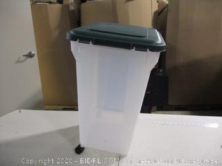 Iris- Wheeled Pet Food Storage Container (missing wheel)
