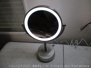 Sharper Image Bluetooth Vanity Makeup Mirror With Wireless Music Streaming And LED Light