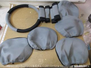 FH Group - Seat Cover Combo Set with Steering Wheel Cover