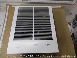 Broan-NuTone 198 High Capacity Wall Heater, White Painted Grille, 4000/2000 Watt ($213 Retail)