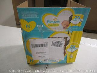 Pampers- Swaddlers- Diapers- Size N- 120 Ct Box
