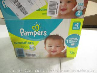 Pampers- Swaddlers- Diapers- Size 2- 186 Ct Box