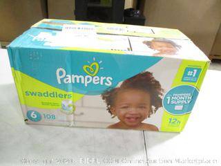 Pampers- Swaddlers- Diapers- Size 6 - 108 Ct Box (Sealed Bags)