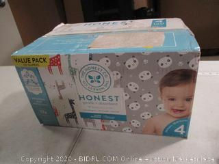 The Honest Co.- Honest Gentle + Absorbent- Diapers- Size 4- 120 Ct Box (Sealed Bags)