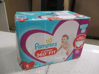 Pampers - Cruisers - Size 4, 140 Count (Sealed)