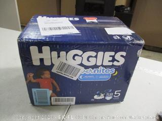 Huggies - Overnites - Size 5, 58 Count (Sealed)