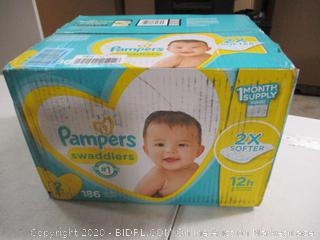 Pampers - Swaddlers - Size 2, 186 Count (Sealed)