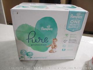 Pampers - Pure Protection Diapers - Size 2, 186 Count (Sealed)
