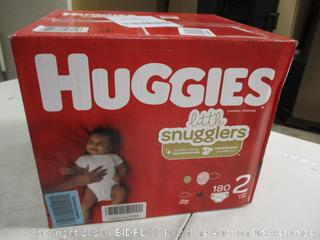 Huggies - Little Snugglers - Size 2, 180 Count (Sealed)