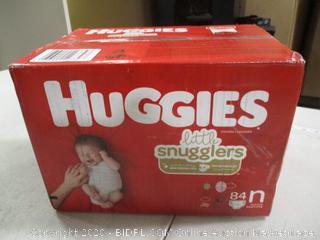 Huggies- Little Snugglers Diapers- Size N- 84 Ct Box (Sealed Box)