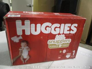 Huggies- Little Snugglers Diapers- Size 1-198 Ct Box (Sealed Bags)