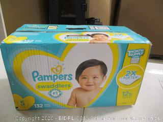 Pampers- Swaddlers Diapers- Size 5- 132 Ct Box ( Sealed Box)