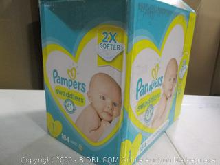 Pampers- Swaddlers Diapers- Size 1- 164 Ct Box ( Sealed Bags)