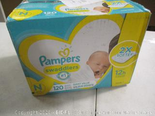 Pampers- Swaddlers- Diapers- Size N- 120 Ct Box (Sealed Bags)