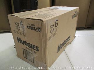 Huggies- Snug & Dry Diapers- Size 6- 128 Ct Box ( Sealed Box)