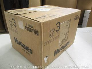 Huggies- Snug & Dry Diapers- Size 3- 210 Ct Box (Sealed Box)