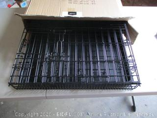 Amazon Basic Double Door Folding Metal Dog Crate