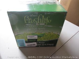 Tribest FL-3000 Freshlife 3000 Automatic Sprouter, Green (RETAIL $140)