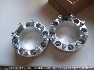 OrionMotorTech 8x6.5 Wheel Spacers 2 inches with 9/16-18 Studs for 1994-2011 Dodge Ram 2500 3500, 1988-1998 Ford F-250 F-350