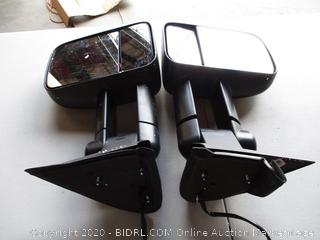 AUTOSAVER88 Towing Mirrors for 2003-2007 Chevy Silverado GMC Sierra 1500 2500 HD 3500, Power Heated Side View Tow Mirror for Tahoe Suburban Avalanche Yukon with Arrow Turn Signal Light (RETAIL $126)