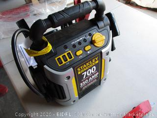 STANLEY FATMAX J7CS Portable Power Station Jump Starter: 700 Peak/350 Instant Amps, 120 PSI Air Compressor, 3.1A USB Ports, Battery Clamps