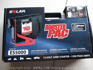 Booster PAC ES5000 1500 Peak Amp 12V Jump Starter (RETAIL $127)