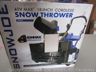 Snowjoe Snow Thrower (Retail Price $141.99)
