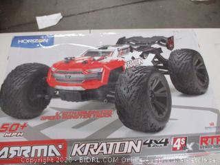 ARRMA KRATON 4X4 4S BLX Brushless 4WD RC Speed Monster Truck (Retail Price $403)