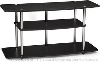 Convenience Concepts Designs2Go Wide 3-Tier TV Stand in Black