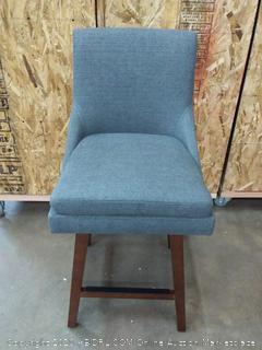 Stone & Beam Alaina Contemporary High-Back, Swivel Seat, Gray (on floor)