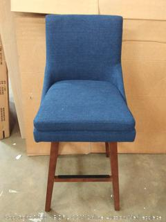 Stone & Beam Alaina Contemporary High-Back, Swivel Seat, navy blue (on floor)