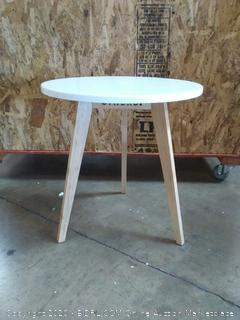 Stndrd three-legged bamboo end table (on floor)