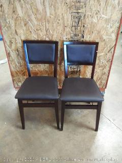Kiara pad folding chairs 2 count (on floor)