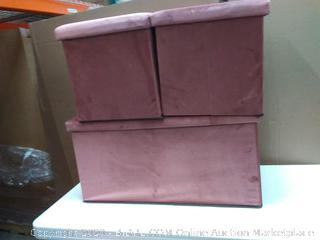 furniture set of 3 multifunctional rectangular storage ottoman (on floor)