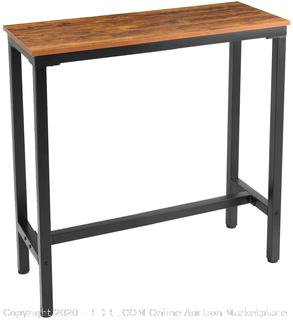Mr IRONSTONE 39.4 Bar Table Vintage Industrial Pub Dining Height Table Bistro Table
