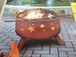 True Value Master Big Sky Firepit - 29.5 X 29.5 X 23.5 in(Retails $149)