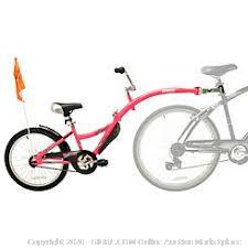 Childs Pedal Bike Trailer Half Bicycle Attachment Kids Adjustable