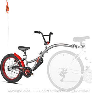 WeeRide Co-Pilot XT Deluxe Wide Tire Bike Trailer Grey (upstairs)