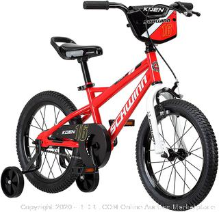 Schwinn Koen Boy's Bike, Featuring SmartStart Frame to Fit Your Child's Proportions, 16inches Wheels, Red (upstairs)