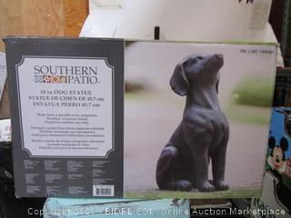Southern Patio Dog Statue (please preview)