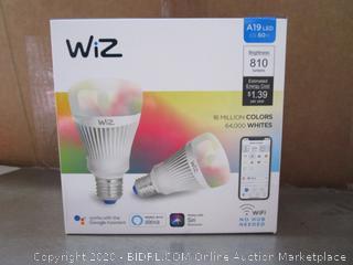 WiZ A19 LED Smart Wifi Light Bulbs