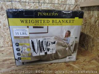 Pendleton Weighted Blanket: 15# Beige