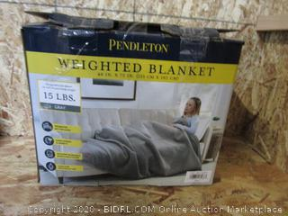 Pendleton Weighted Blanket: 15# Gray