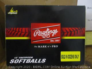 "Rawlings 12"" Fastpitch softballs"