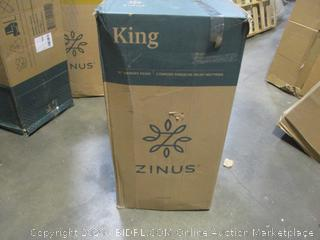"Zinus 10"" Memory Foam Mattress  king"