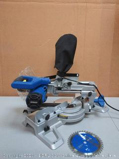 Kobalt 7 1/4 in miter saw with sliding single