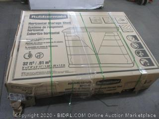 Rubbermaid Horizontal Storage Shed (Please Preview) (Sealed) (Box Damage)